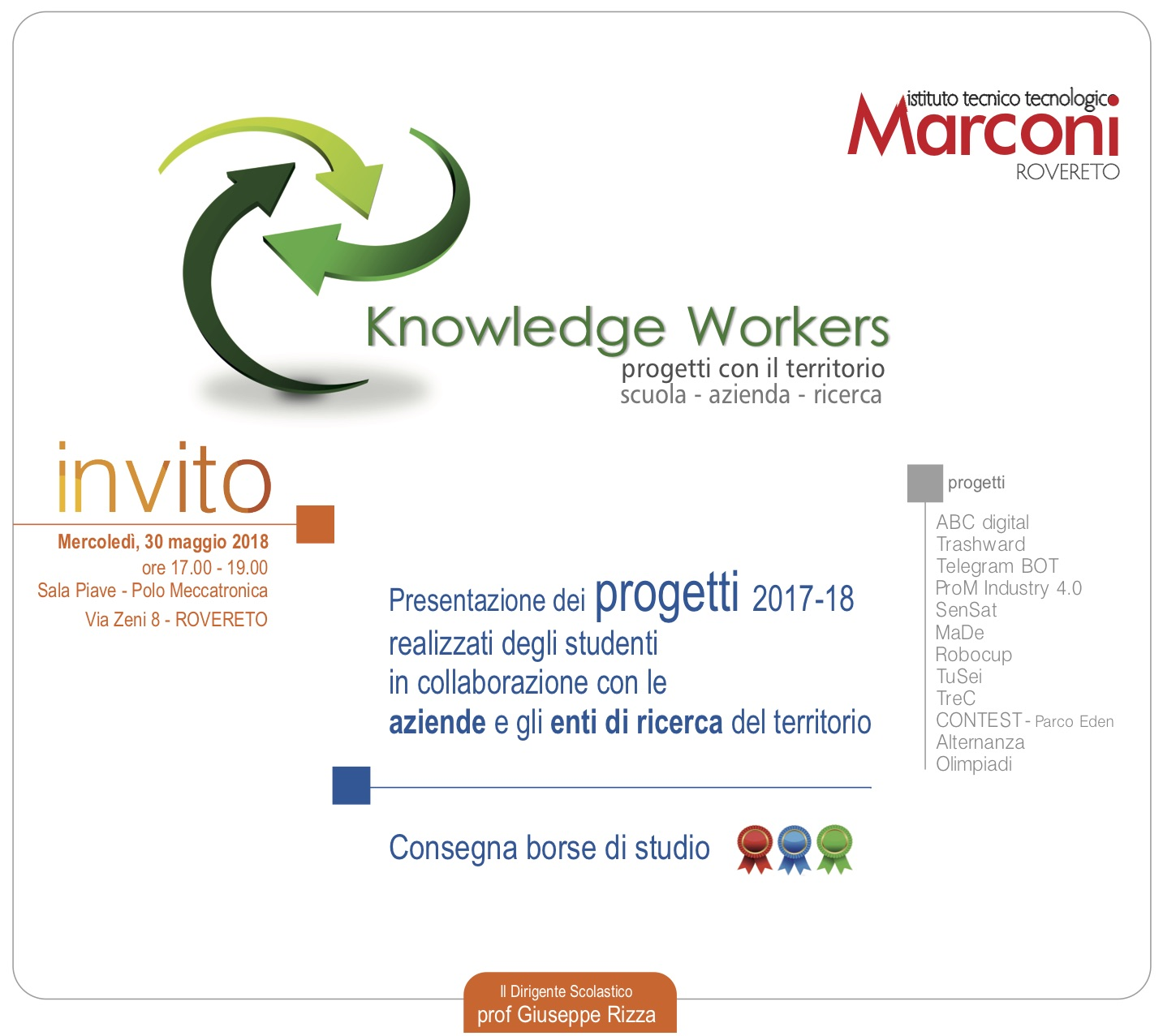 Knowledge workers: 30 maggio 2018