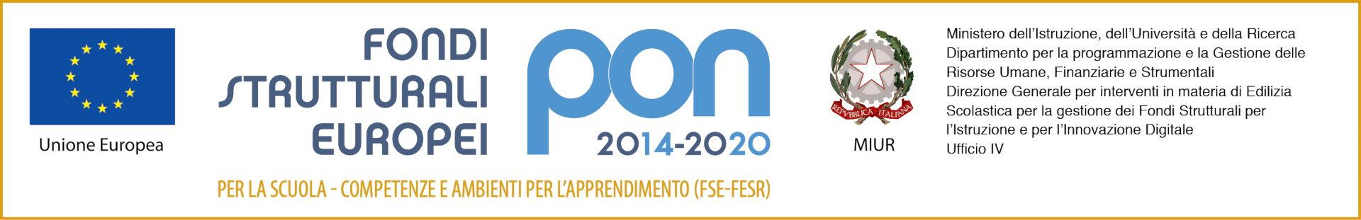 Loghi PON 2014 2020 fsefesr